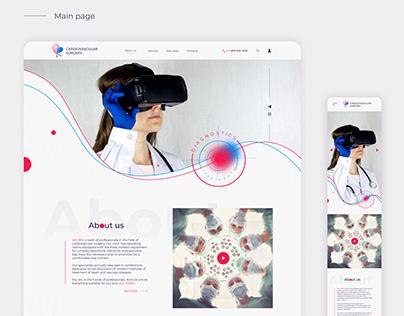 Web design. Website for cardiovascular surgery clinic
