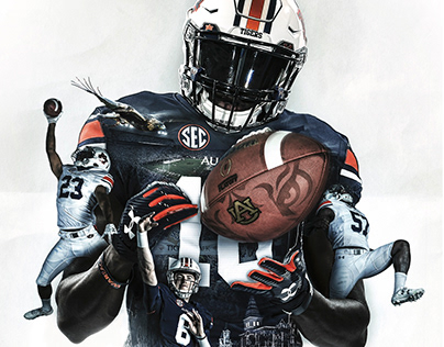 2018 Auburn Football Poster
