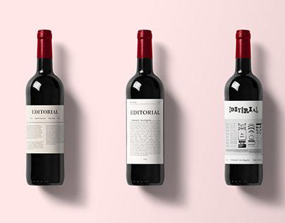 Editorial wine label concepts
