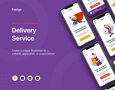 FASTGO - Delivery Service Illustrations