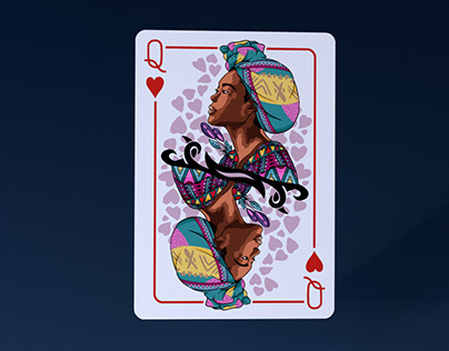 Afrowaiian Cards - Queen of Hearts