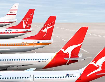 Qantas / History