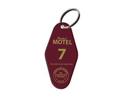Schitt's Creek officially licensed keychain design