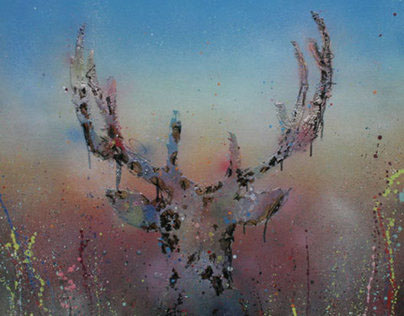 The Stag Collection - Original Sprayed Art