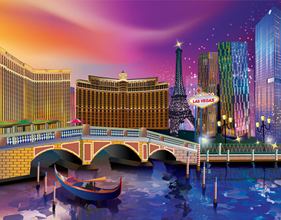 Las Vegas (Illustrator Drawing)