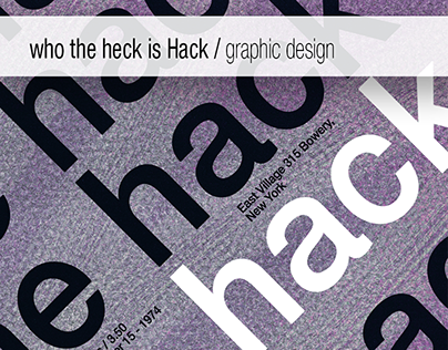 The Hack - band graphic design