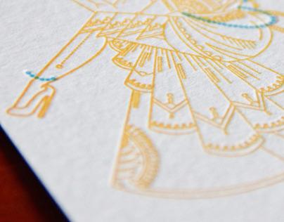 Fingersmith Letterpress Calendar Pin-Up Illustration