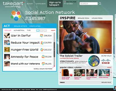takepart website design - social action network