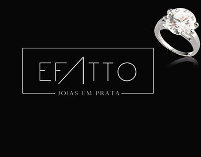 Efatto Joias em Prata Logotipo