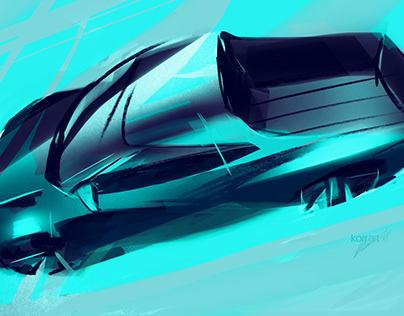 Tesla Pickup Sketcfighter contest sketches