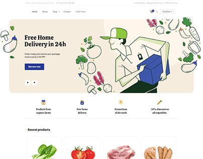 Grocery Shop - WordPress