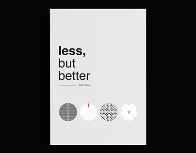 Less, but better   Dieter Rams