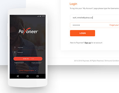 Payoneer Redesign Concept