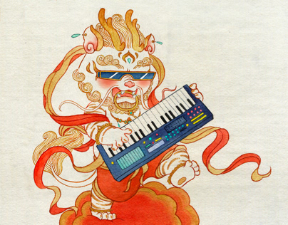 中国神兽摇滚乐队 The Rock Band of Chinese traditional divine be