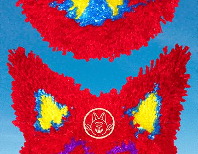 Latch Hook Crimson Cat