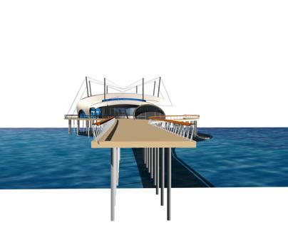 KURSAAL K4 multifunctional space on seaside, Cagliari