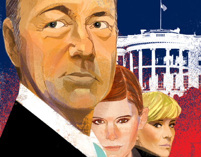 House of Cards Illustration for The New Yorker