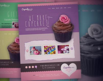 Cupcake Theme Website Design