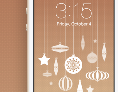Christmas Baubles Wallpaper for iPhone 5/5c/5s