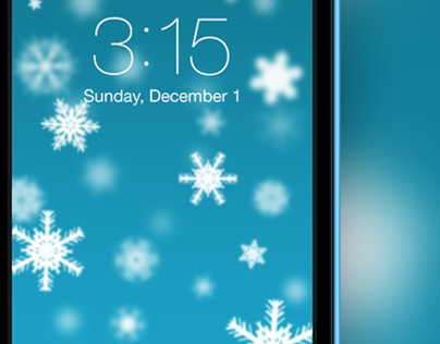 Christmas Snowflakes Wallpaper for iPhone 5/5c/5s