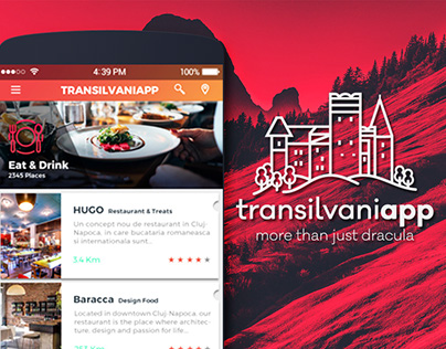 Transilvaniapp App Design