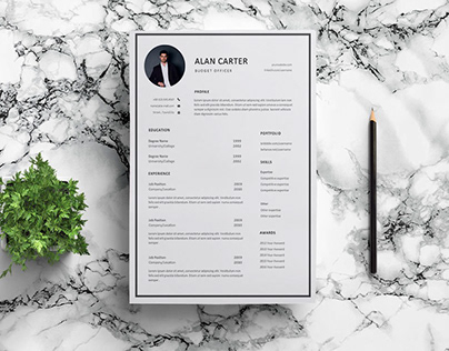 Free Budget Officer Resume Template with Simple Look