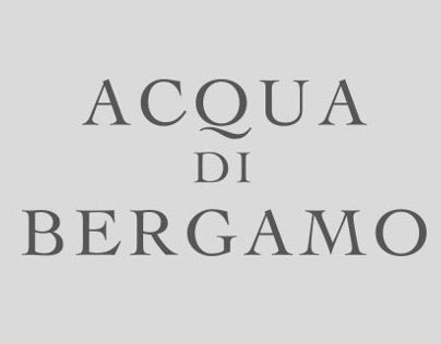 Packaging - Acqua di Bergamo