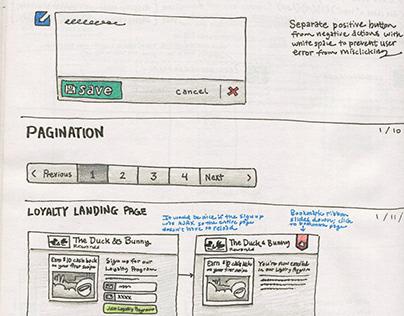 UX/UI sketchbook (2012)