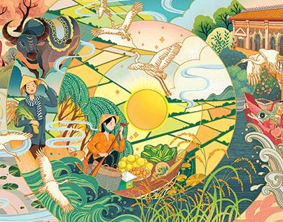 Minh họa cho dự án gạo SPG
