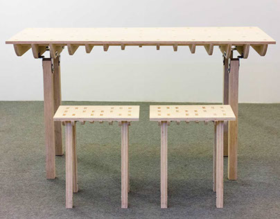 Wave Table & Stool