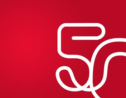Rio 50th Anniversary Branding