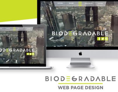 Biodegradable l Web Page