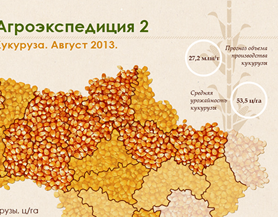 Corn agriexpedition's infografics