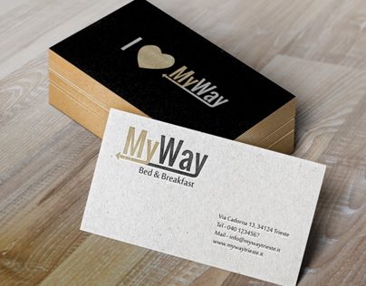 MyWay B&B Logo, Brand Identity and Website
