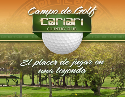 Cariari Country Club Golf / Advertisement