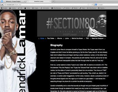 Unofficial Kendrick Lamar Website (My First Website)