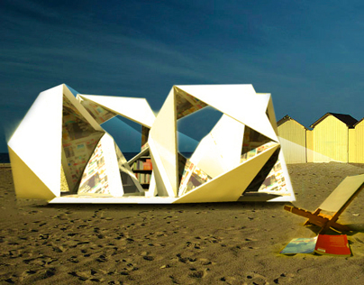 Folding the Page, beach pavilion concept