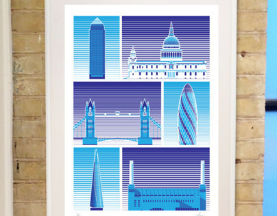Architecture of London Print