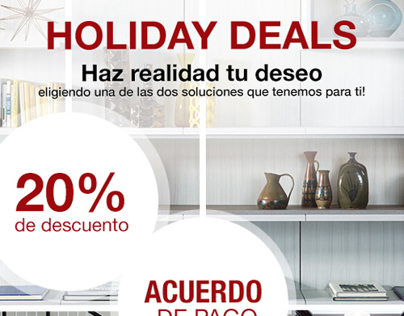 Christmas Email Campaign for California Closets