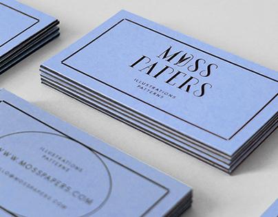 MOSS PAPERS | Logotype & visual communication