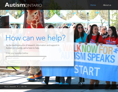 Autism Ontario: Website Redesign
