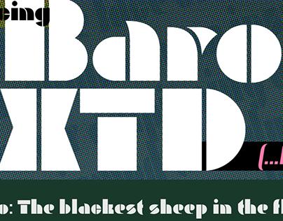 Baro-XTD, Variable display typeface