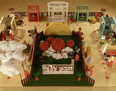 Dubai Food Festival 2021 - Mall Installation Proposal