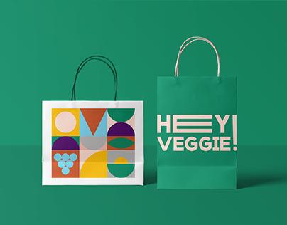 Hey Veggie! ~ Naming + Visual Identity