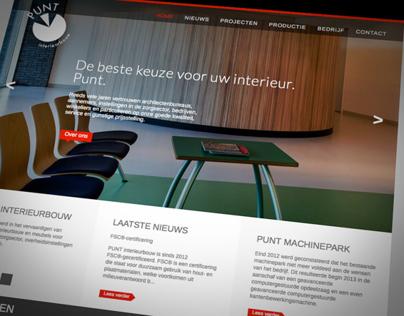 Website PUNT interieurbouw