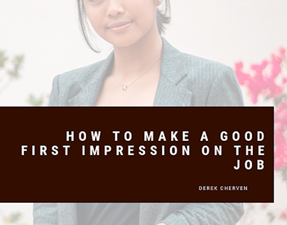 How to Make a Good First Impression on the Job