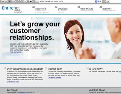 Entirenet - Rebranding and webdesign