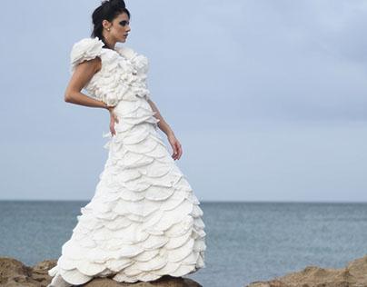 Coffee Filter Dress By Rene Mejia