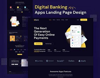 Digital Banking | Apps Landing Page Design