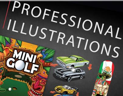 Professional illustration work--various